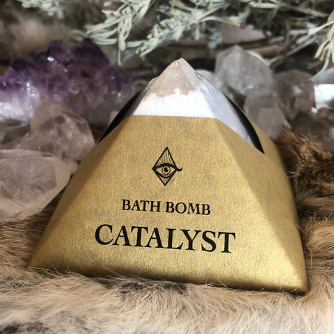 Catalyst Bath-bomb with Charged Crystal