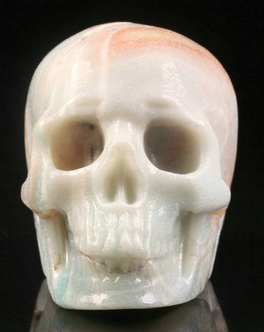 Pastel Amazonite natural crystal skull - Cast a Stone