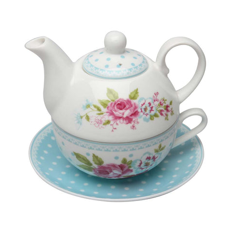 Alice Garden 4 Piece Tea for One Set