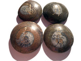 Large Ammonite Fossil Reiki Stones Set of 4 - Cast a Stone