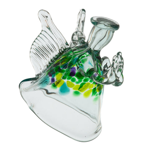 The Angel of Blessings hand blown Art Glass Ornament