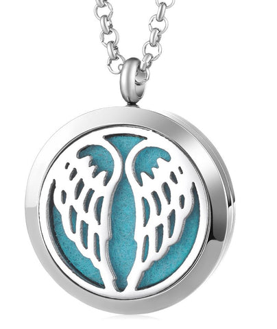 Angel Wings Aromatherapy Locket Pendant - Cast a Stone