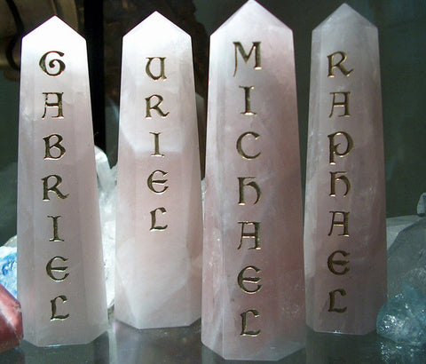 "ArchAngel Altar Directionals 6"" Pillars set of 4 - Cast a Stone"