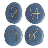 Back in stock! Archangel Pocket Stones on Angelite - Limited supply! - Cast a Stone
