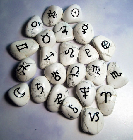 Howelite Astrology Set of 24 - Cast a Stone