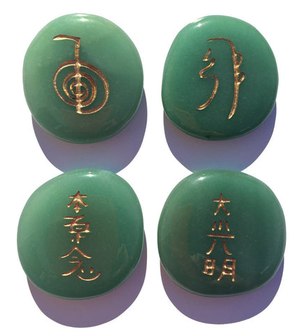 Green Aventurine Reiki Stones© set of 4