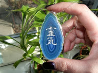 New! Reiki Stones© Agate slice Pendants!