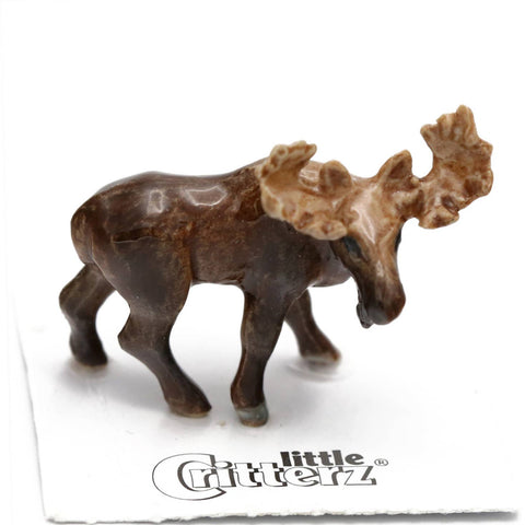 Bull Moose Porcelain Miniature