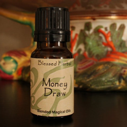 Money Draw Blessed Herbal Oil - Cast a Stone