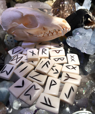Real Bone Runes Set - Cast a Stone