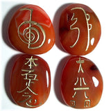 Carnelian Reiki Stones© set of 4 - Cast a Stone