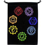 New! Embroidered 7 Chakra Velvet Bag for Crystals, Cards and more!