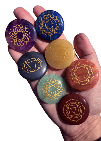New Larger stones! Chakra Balancing set of 7 - Cast a Stone