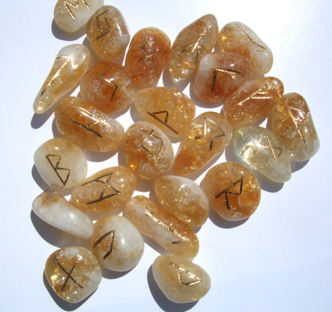 Citrine Runes Set - Cast a Stone