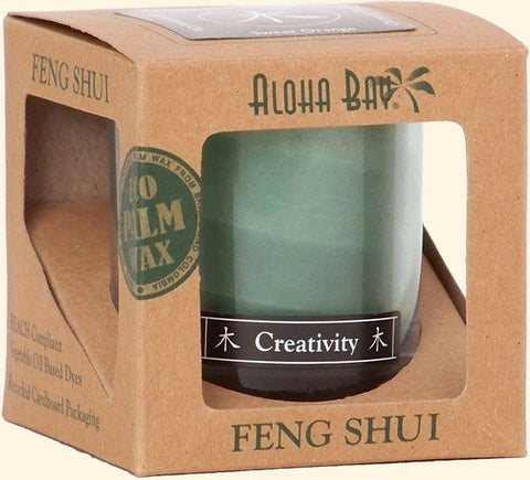 Wood - Creativity Feng Shui Jar Candle - Cast a Stone