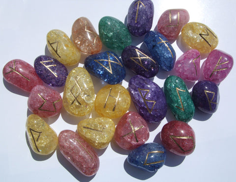 Faery Quartz Runes Set - Cast a Stone