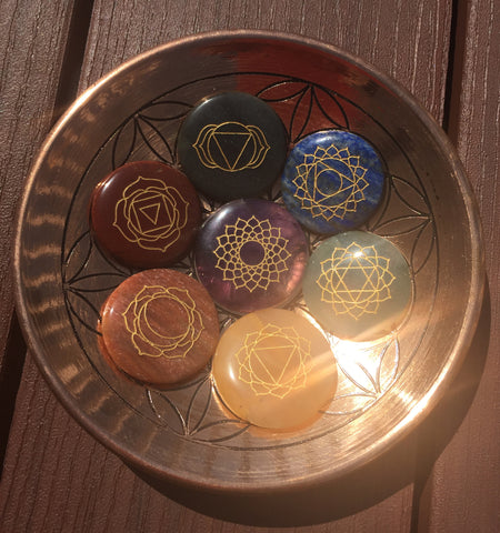 "Back in Stock! Flower of Life Copper offering bowl 6"" engraved"