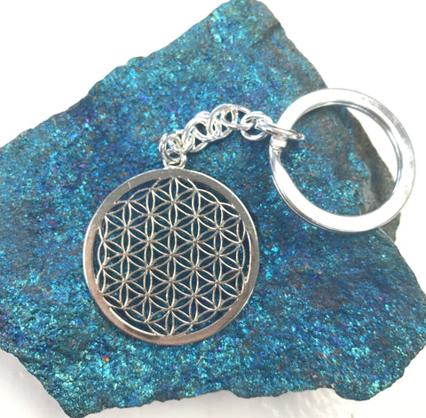New! Flower of Life keychain