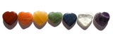 New! Heart Shaped Chakra Stones Balancing set of 7