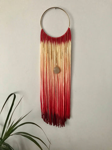 Modern Bohemian Wall Hanging with Quartz crystal