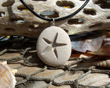 Starfish -Talisman of Travel over Water - Engraved Beach Stone Pendant - Star of the Sea necklace - Cast a Stone