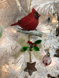 Chickadee or Cardinal Tiered Ornaments CLEARANCE