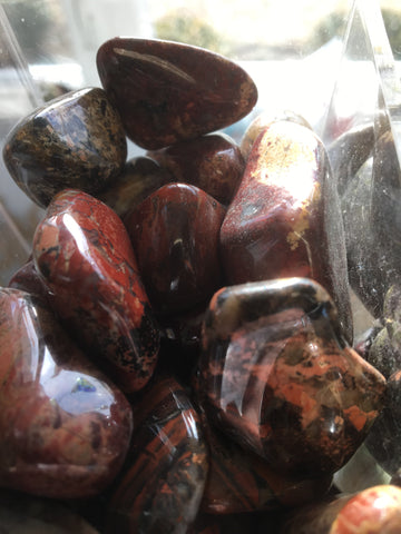 Brecciated Jasper Tumbled Gemstone