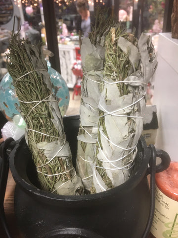 Large California White Sage and Rosemary Smudge Stick