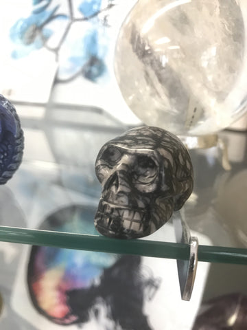 Picture Jasper crystal skull - Cast a Stone