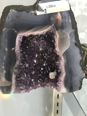 Amethyst Cathedral with inclusion