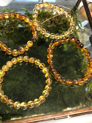 Amber Stretch Bracelet 8mm