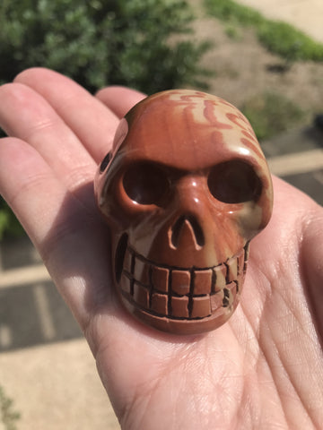 Jasper natural crystal Skull - Cast a Stone
