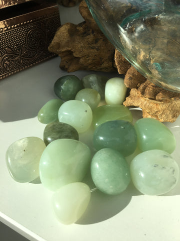 Jade tumbled  gemstone
