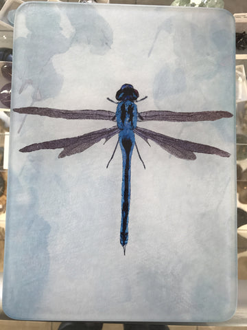 Medium Blue Dragonfly X-Ray Cutting Board - Cast a Stone