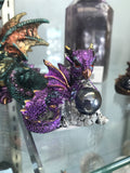 Small Cute Baby Dragon w/Sphere -choose your color! - Cast a Stone