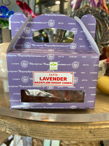 Lavender Backflow Incense Cones (Dhoop)