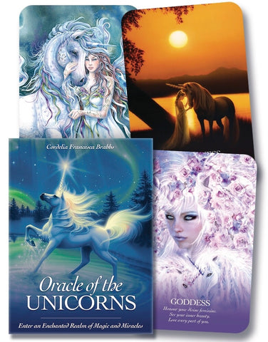 Oracle of the Unicorns: Enter an Enchanted Realm of Magic & Miracles by Cordelia Francesca Brabbs - Cast a Stone