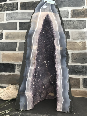 Tall Amethyst Druzy Cathedral - Cast a Stone