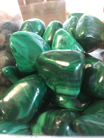 Malachite Tumbled Single Gemstone - Cast a Stone