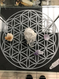 Flower of Life glass engraved grid - Cast a Stone