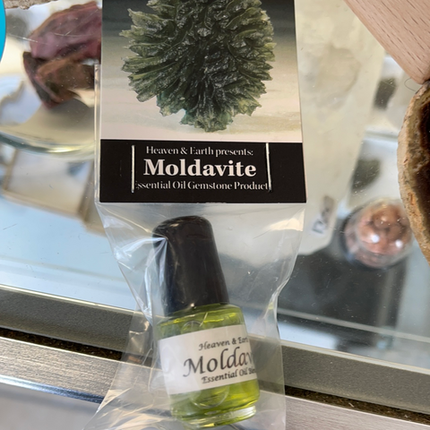 Moldavite Gemstone Essential Oil