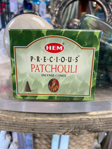 Precious Patchouli HEM incense cone 10 pack