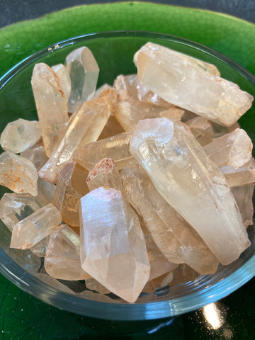 Tangerine Quartz Point Natural Gemstone
