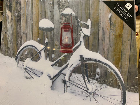 Canvas LED Print-Bicycle