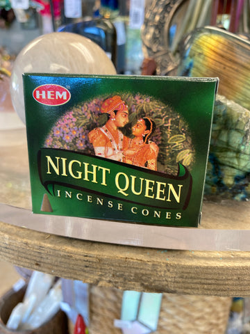 Night Queen HEM incense cone 10 pack