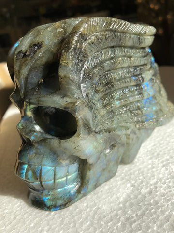 Labradorite Large carved Skull