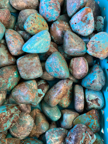 Blue Turquoise Tumbled Gemstone