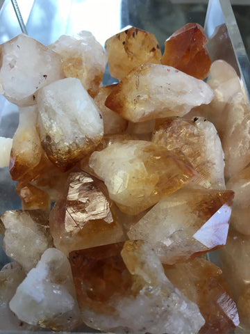 Citrine point natural single gemstone