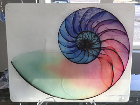 large Nautilus X-Ray Cutting Board