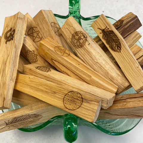 Palo Santo Engraved Symbol Incense Stick